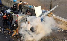 (تصاویر) صحنه ای از تظاهرات در بغداد