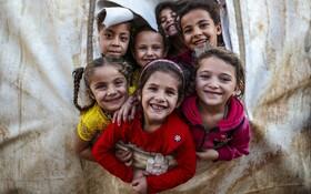 (تصاویر) کودکان سوری در کمپ آوارگان در حلب