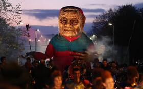 (تصاویر) مجسمه ای که برای هالیوین در انگلیس ساخته شد