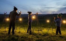 (تصاویر) گروهی از شرکت کنندگان در مسابقه عکس برداری از فضا از سوی گوگل