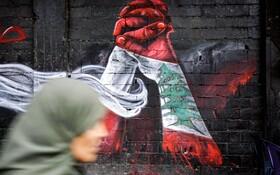 (تصاویر) نقاشی دیواری در میدان نور لبنان که هنرمند فلسطینی کشیده است