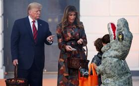 (تصاویر) جشن هالووین در کاخ سفید با شرکت دونالد ترامپ و ملانیا ترامپ