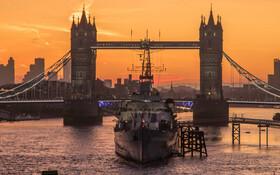 (تصاویر) طلوع آفتاب در لندن