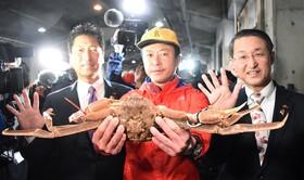 (تصاویر) بازار ماهی فروش ها در تاتوری ژاپن و مردی که یک خرچنگ مخصوص موسوم به خرچنگ برفی که به قیمت 36 هزار پوند فروخته است
