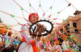 (تصاویر) مراسم مذهبی سیک ها در امریتسر هند