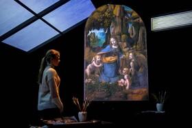 (تصاویر) نقاشی از لئوناردو داوینچی نقاش مشهور ایتالیایی در نمایشگاهی در انگلیس