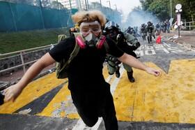 (تصاویر) تظاهرات در دانشگاه چینی هنگ کنگ و حمله نیروهای ضد شورش به دانشجویان