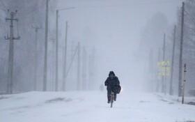 (تصاویر) دوچرخه سواری در سرمای آلتای در روسیه