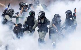 (تصاویر) صحنه ای تظاهرات در هنگ کنگ
