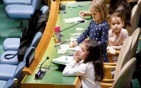 (تصاویر) کودکان در مجمع عمومی سازمان ملل به مناسبت روزجهانی کودک  در نیویورک