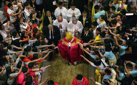 (تصاویر) پاپ فرنسیس در مراسم مذهبی در تایلند