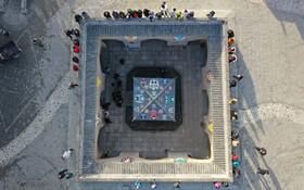 (تصاویر) تصویری از فراز بنای باستانی زیرزمینی در شینزو در ایالت هنان چین