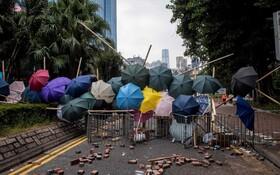 (تصاویر) موانعی که دانشجوان در ورودی خوابگاه دانشجویان دانشگاه پلی تکنیک هنگ کنگ ایجاد کرده اند