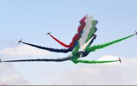 (تصاویر) نمایش هوایی در نمایشگاه هوایی دوبی