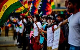 (تصاویر) (تصاویر) تظاهرات حامیان اوومورالس در بولیوی که از مقامش استعفا و به مکزیک پناهنده شد