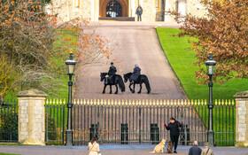 (تصاویر) ملکه انگلیس درحال اسب سواری در کاخش