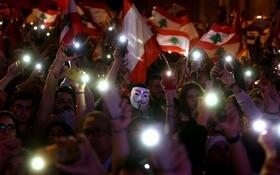 (تصاویر) تظاهرات در میدان شهدای لبنان