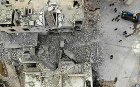 (تصاویر) نمایی از خرابی های ادلیب در سوریه