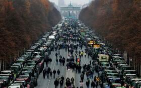(تصاویر) تظاهرات کشاورزان در آلمان