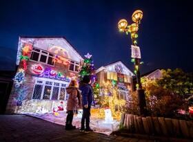 (تصاویر) تزئینات سال نو میلادی در انگلیس