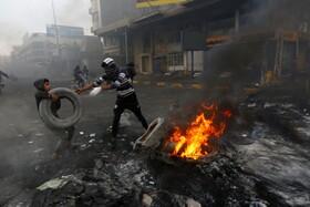(تصاویر) تظاهرات در نجف