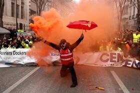 (تصاویر) تظاهرات در فرانسه علیه تغییر قوانین کار در این کشور