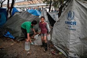 (تصاویر) اردوگاه پناهندگان در یونان