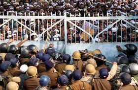 (تصاویر) تظاهرات در لاکنو هند علیه اعطای حق شهروندی به مهاجران غیر مسلمان در هند