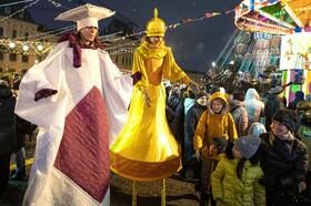 (تصاویر) جشن زمستانی و فرارسیدن سال نو در میدان سرخ مسکو