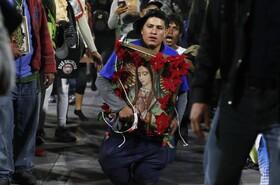 (تصاویر) مراسم مذهبی مسیحیان در مکزیکوسیتی در آستانه سال نو میلادی