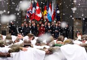 (تصاویر) مراسم یادبود جنگ جهانی دوم با شرکت وزیردفاع آمریکا و رهبران اروپایی در بلژیک