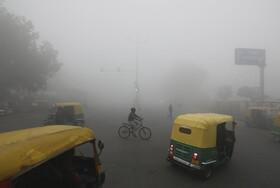 (تصاویر) آلودگی هوا در دهلی مرکز هند در زمستانی سرد