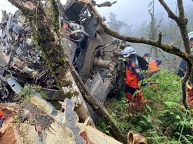 (تصاویر)سقوط یک هلیکوپتر در تایوان