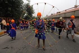 (تصاویر) مراسم مذهبی سیک ها در جامو در هند