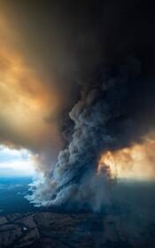(تصاویر) نمایی از آتش سوزی در استرالیا