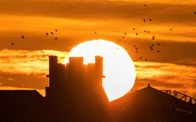 (تصاویر) نمایی دیدنی از طلوع آفتاب