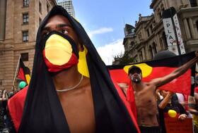 (تصاویر) تظاهرات بومیان استرالیا