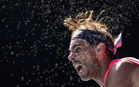 (تصاویر) رافائل نادال در بازی های تنیس اوپن استرالیا در بازی با پابلو کارنو بوستا هردو از اسپانیا