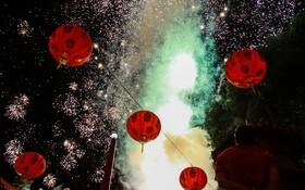 (تصاویر) تزئینات سال نو چینی در اندونزی