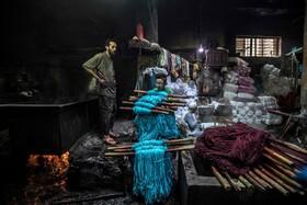 (تصاویر) کارگاه رنگرزی در قاهره مصر