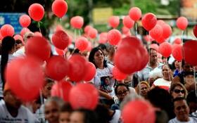 (تصاویر) مراسم یادبود کشته شدگان حادثه شکستن سد در برزیل