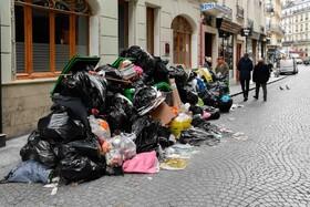 (تصاویر) اعتصاب عمومی کارکنان حمل زباله در فرانسه