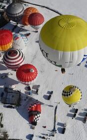 (تصاویر) پرواز بالن های هوای گرم در اطریش