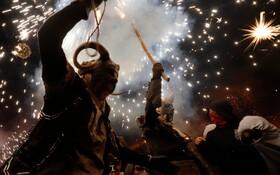 (تصاویر) جشن سنتی فرارسیدن زمستان در اسپانیا