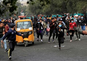 (تصاویر) تظاهرات در بغداد عراق