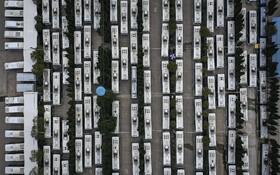(تصاویر) توقفگاه اتوبوس های مسافربری عمومی در ووهان چین مرکز شیوع ویروس کرونا