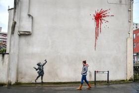 (تصاویر) نقاشی جدید دیورای بنکسی نقاش خیابانی انگلیسی که در بریستول انگلیس