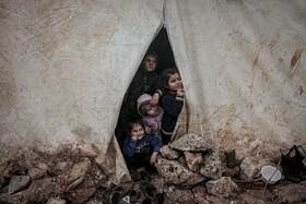 (تصاویر) تصویری از کودکان آواره سوری در اردوگاهی در این کشور