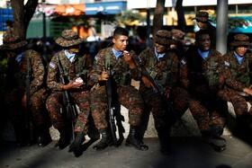 (تصاویر) آمادگی نظامیان در سانسالوادور در السالوادور برای حمله به گروه های تبهکار