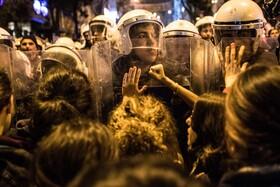(تصاویر) تظاهرات روز زن در استانبول ترکیه